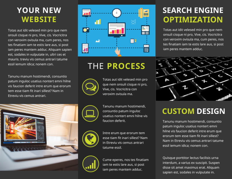 Web Development Brochure Template Preview 3
