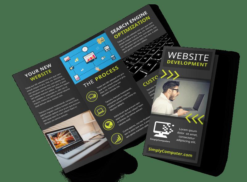Web Development Brochure Template Preview 1