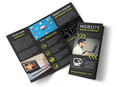 Web Development Tri-Fold Brochure Template