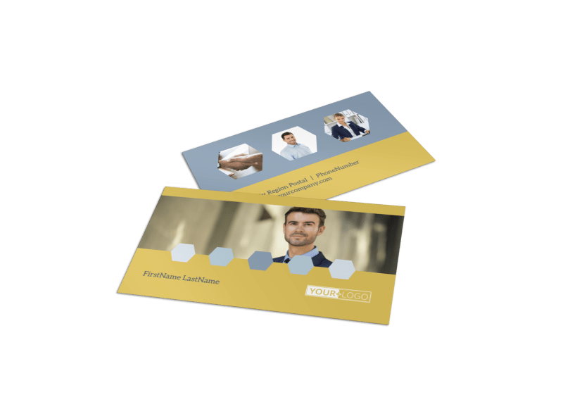 Venture Management Business Card Template Preview 1
