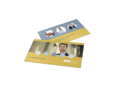 Venture Management Business Card Template preview