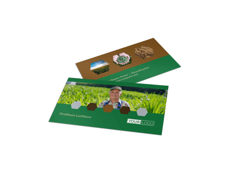 agriculture brochure templates free - agriculture consultants business card template