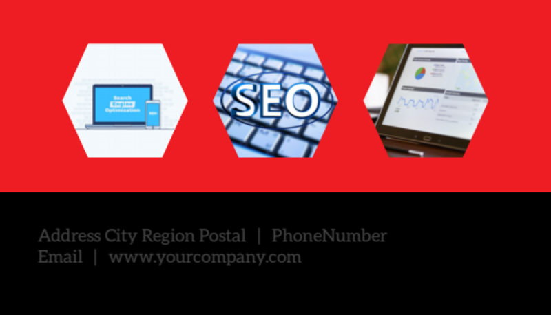 SEO Agency Business Card Template Preview 3