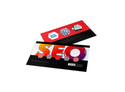 SEO Agency Business Card Template