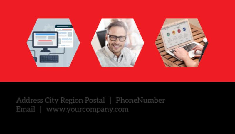 Web Development Business Card Template Preview 3