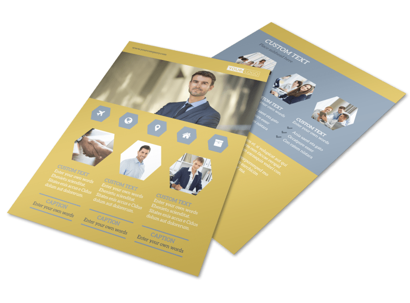 Venture Management Flyer Template Preview 1