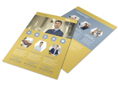 Venture Management Flyer Template preview