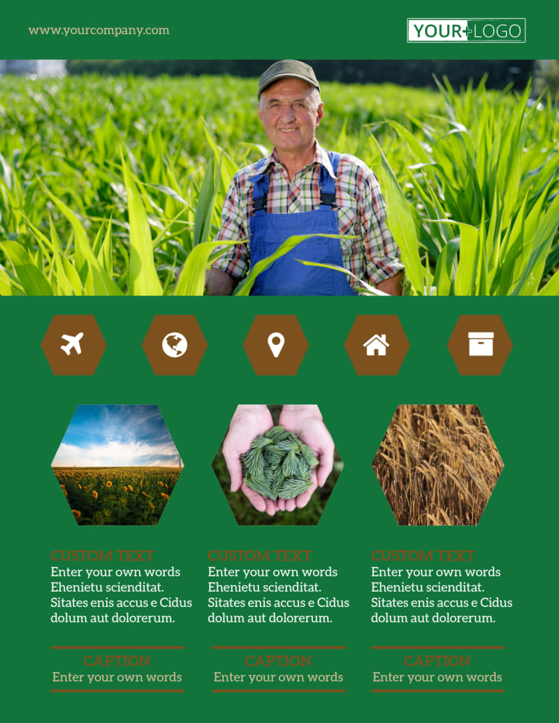 Agriculture Consultants Flyer Template Preview 2