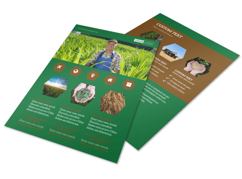 Agriculture Consultants Flyer Template Preview 1