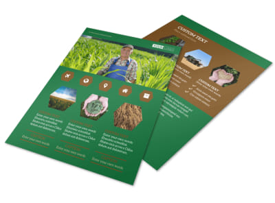 Agriculture Consultants Flyer Template preview