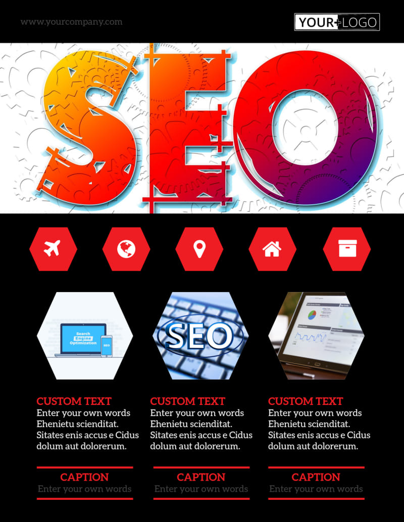 SEO Agency Flyer Template Preview 2