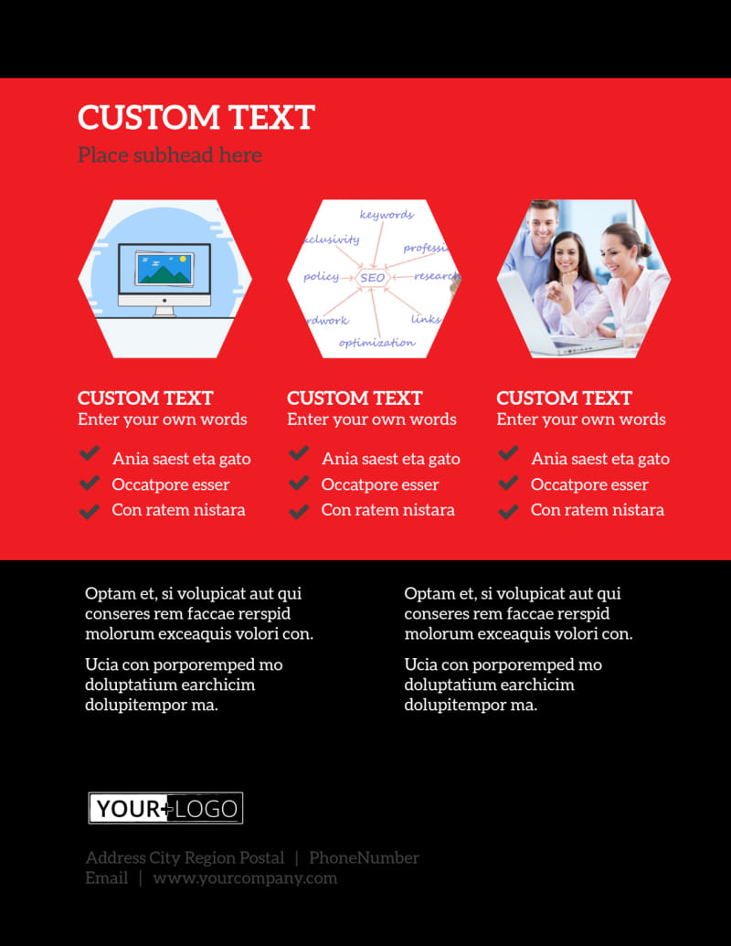 SEO Agency Flyer Template Preview 3