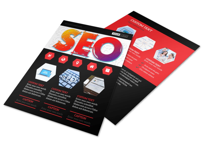 SEO Agency Flyer Template Preview 1