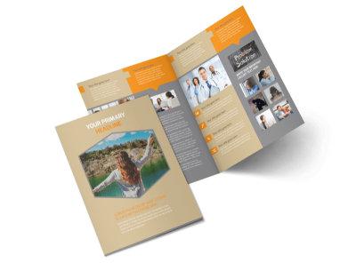 Addiction & Rehab Center Bi-Fold Brochure Template 2