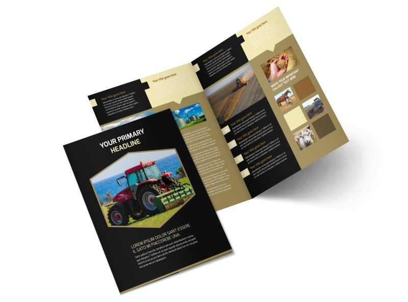 Farm Safety Awareness Bi-Fold Brochure Template 2