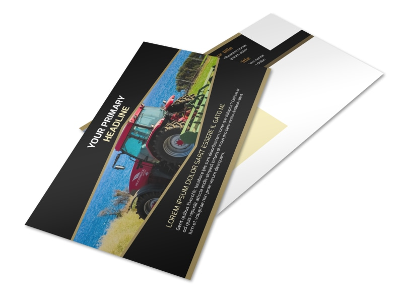 Farm Safety Awareness Postcard Template 2