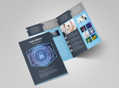 IS Security Bi-Fold Brochure Template 2