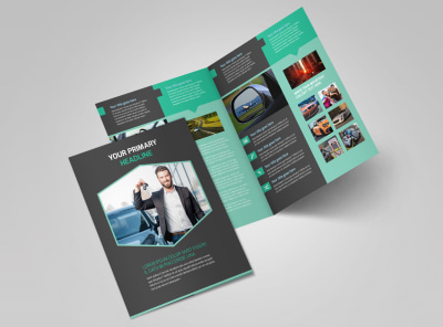 Car Rental Bi-Fold Brochure Template 2