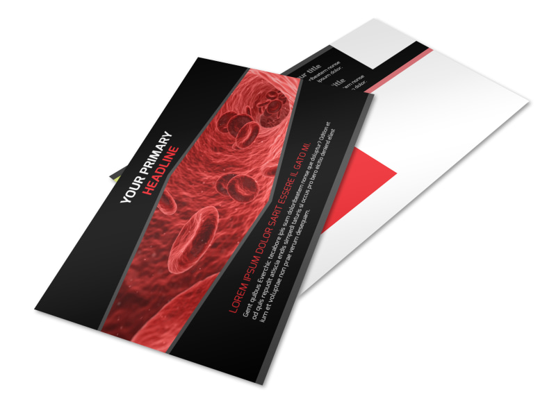 Plasma Donation Center Postcard Template 2