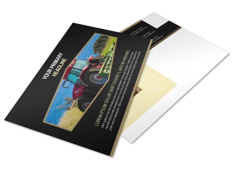 Farm Safety Awareness Postcard Template