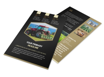 Farm Safety Awareness Flyer Template 3 preview