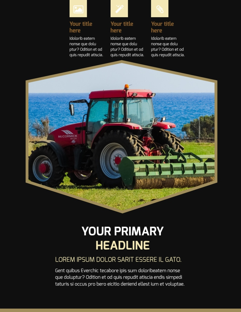 Farm Safety Awareness Flyer Template Preview 2