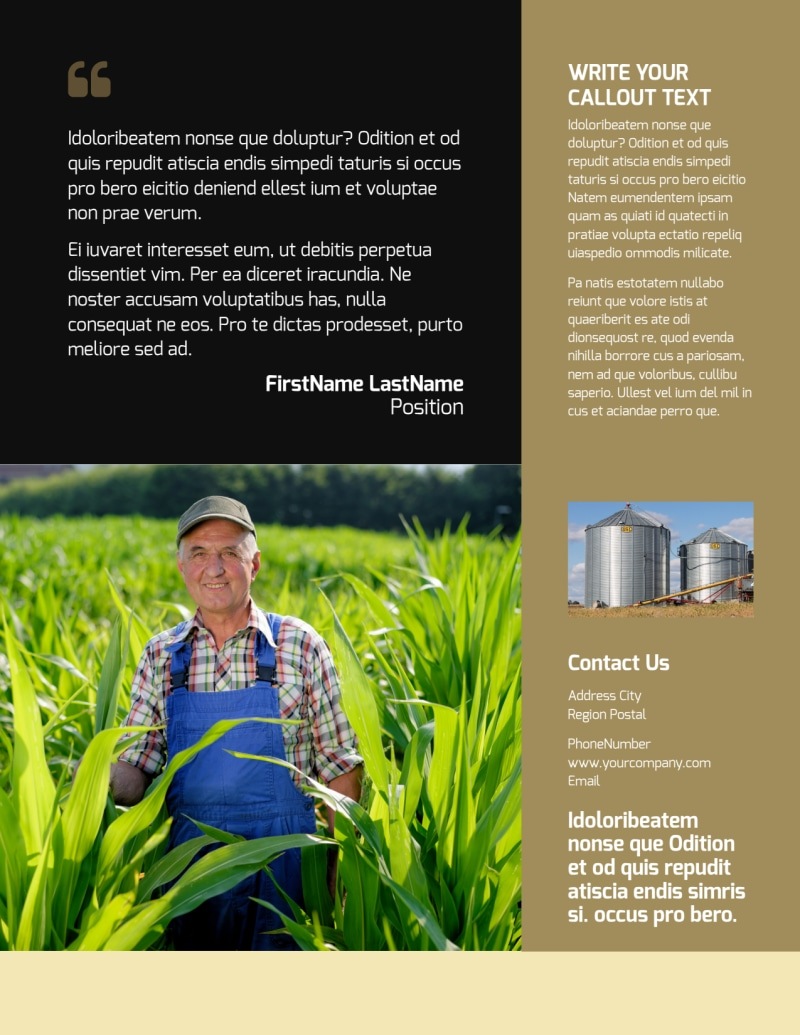 Farm Safety Awareness Flyer Template Preview 3