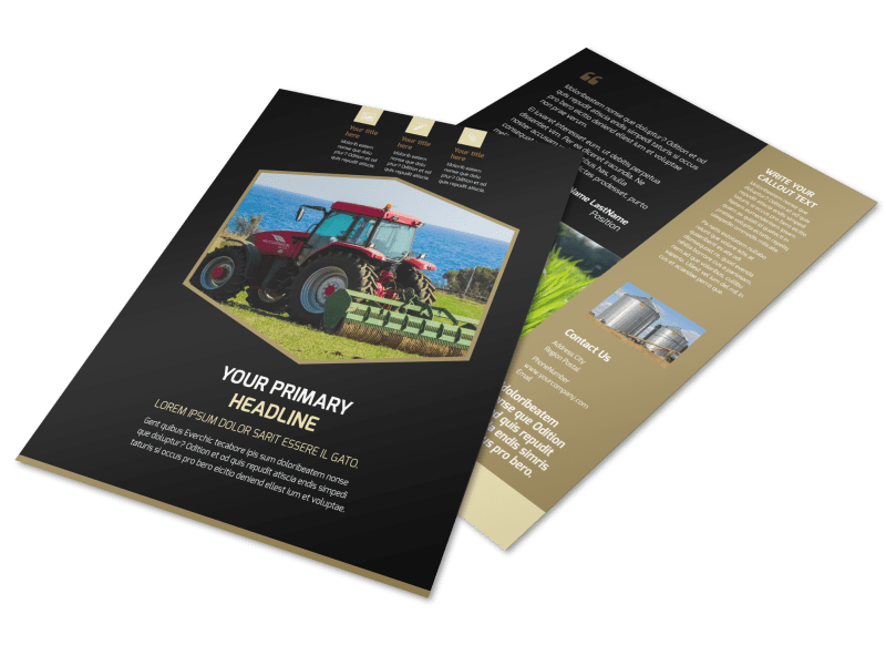 Farm Safety Awareness Flyer Template Preview 1