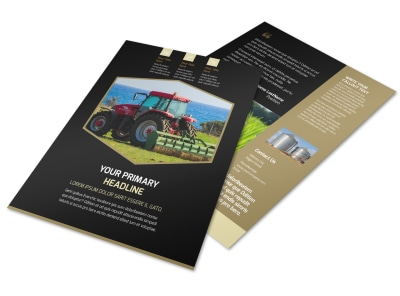 Farm Safety Awareness Flyer Template preview