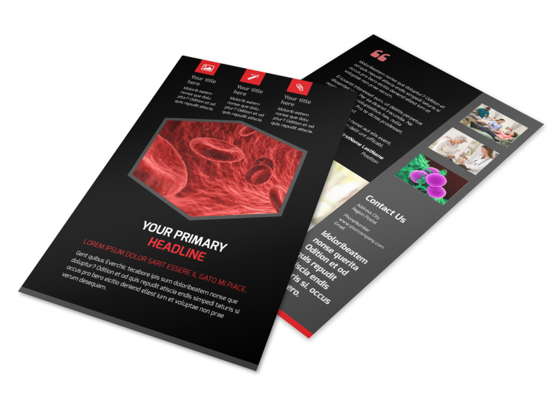 Plasma Donation Center Flyer Template 3