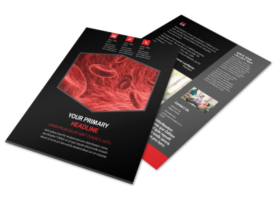 Plasma Donation Center Flyer Template