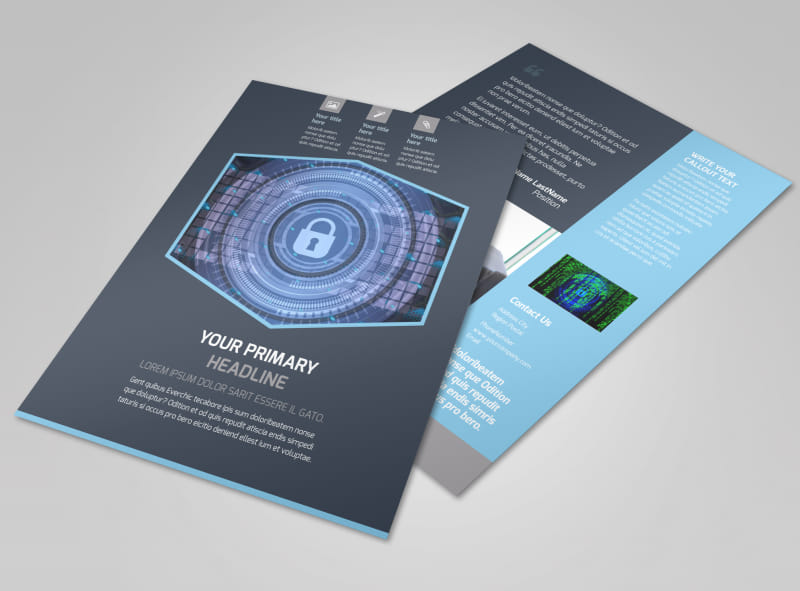 IS Security Flyer Template | MyCreativeShop