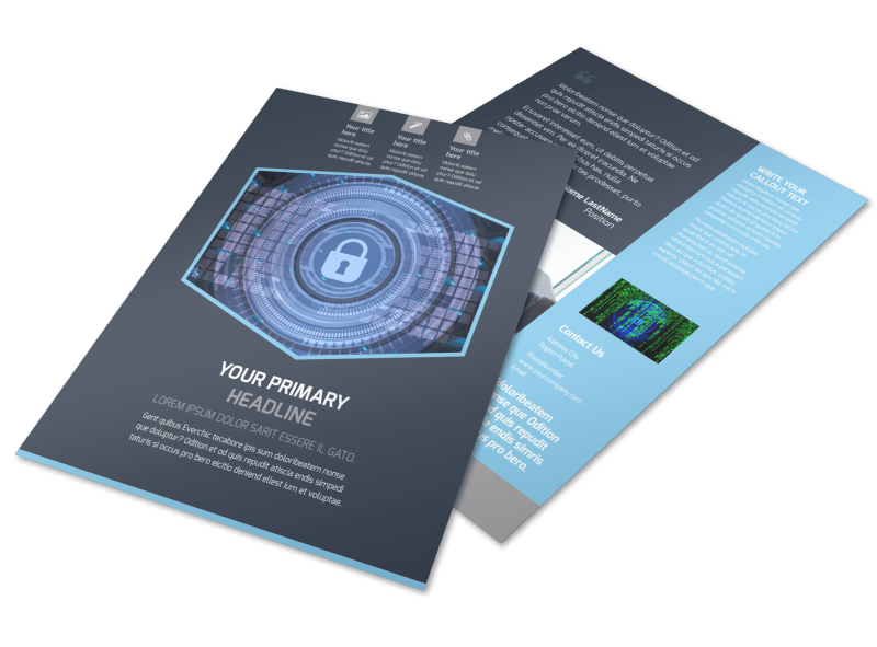 IS Security Flyer Template Preview 1