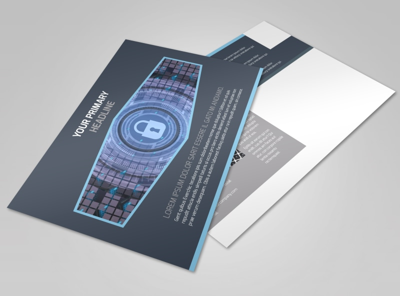 IS Security Postcard Template