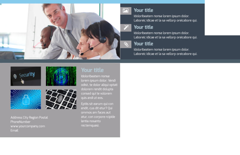 IS Security Postcard Template Preview 3