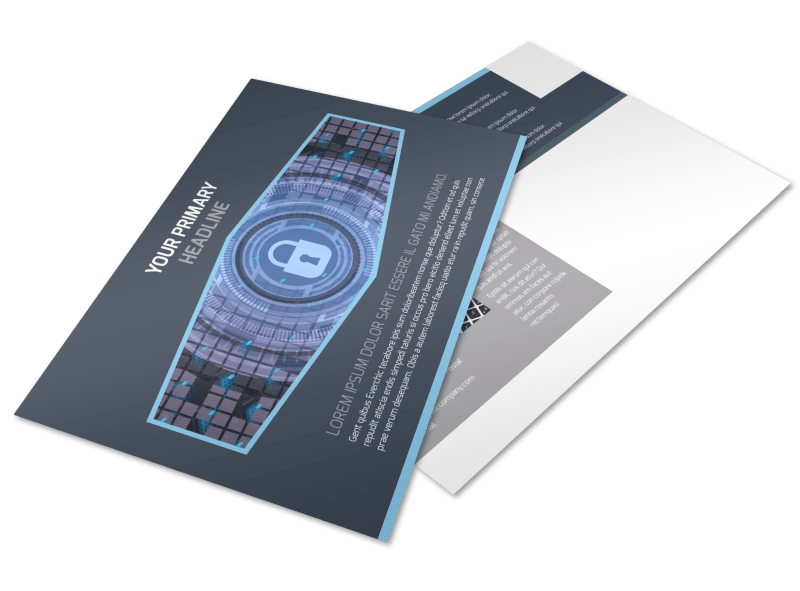 IS Security Postcard Template Preview 1