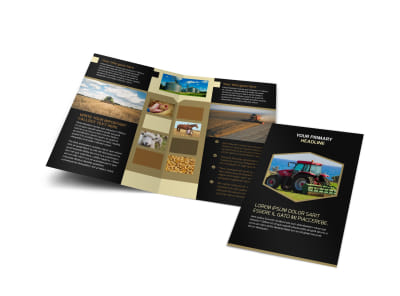 Farm Safety Awareness Bi-Fold Brochure Template preview