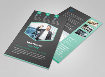 Car Rental Flyer Template 3