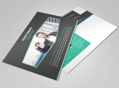 Car Rental Postcard Template
