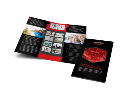 Plasma Donation Center Bi-Fold Brochure Template