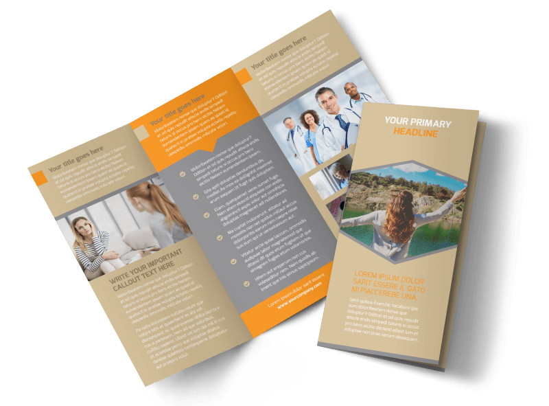 Addiction & Rehab Center Brochure Template Preview 4