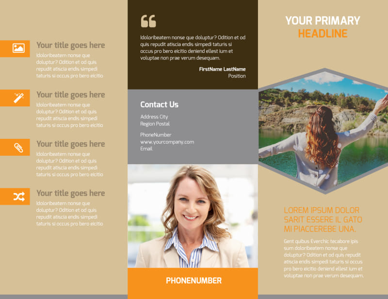 Addiction & Rehab Center Brochure Template Preview 2