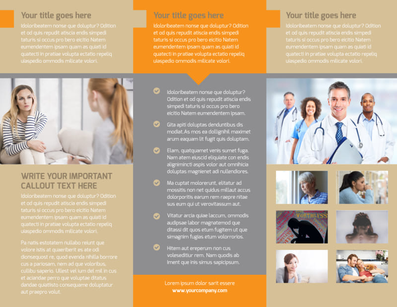Addiction & Rehab Center Brochure Template Preview 3