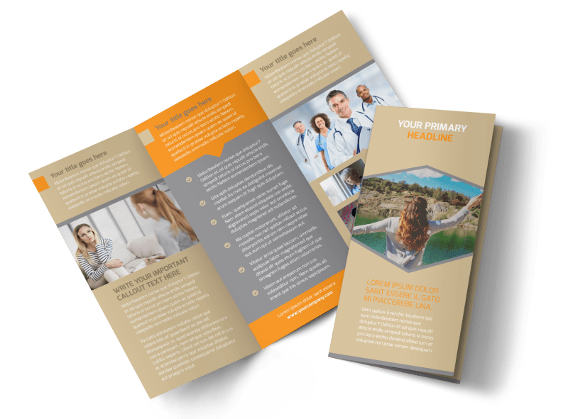 Addiction & Rehab Center Brochure Template Preview 1