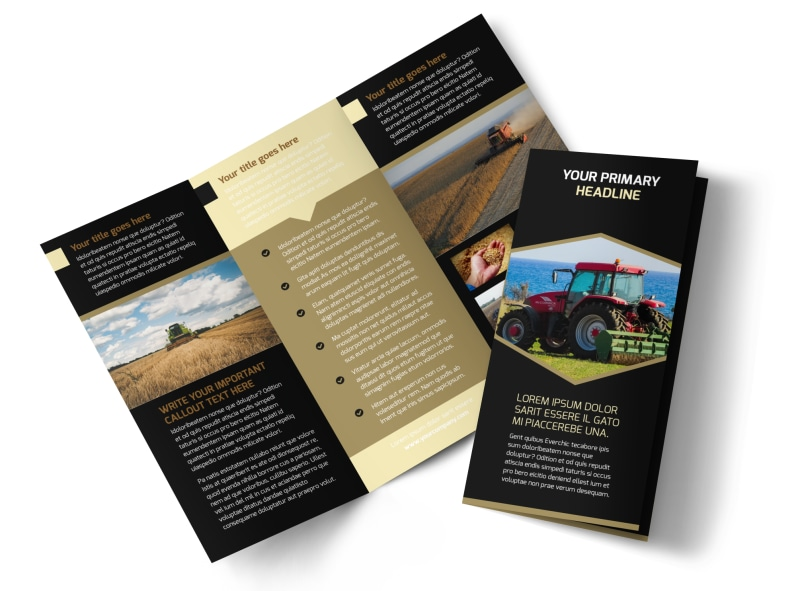 Farm Safety Awareness Tri-Fold Brochure Template