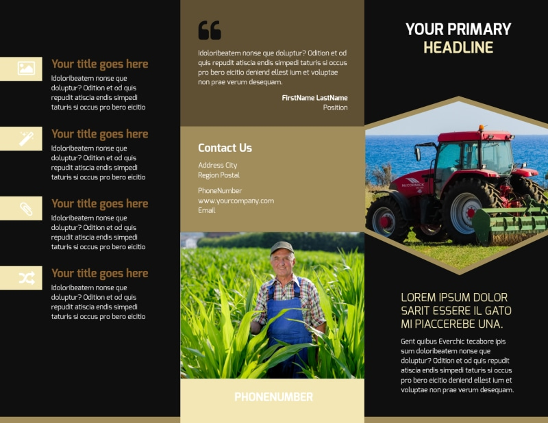 Farm Safety Awareness Brochure Template Preview 2