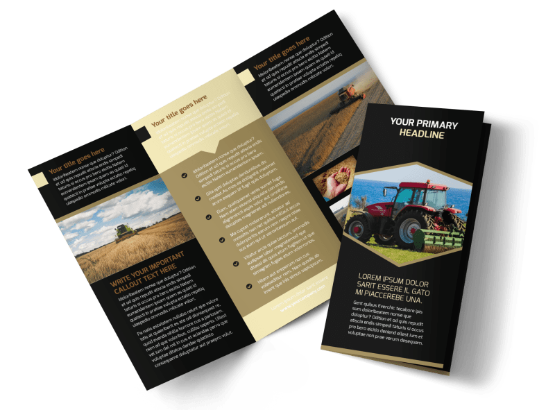 Farm Safety Awareness Brochure Template Preview 1