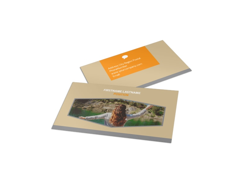 Addiction & Rehab Center Business Card Template Preview 4