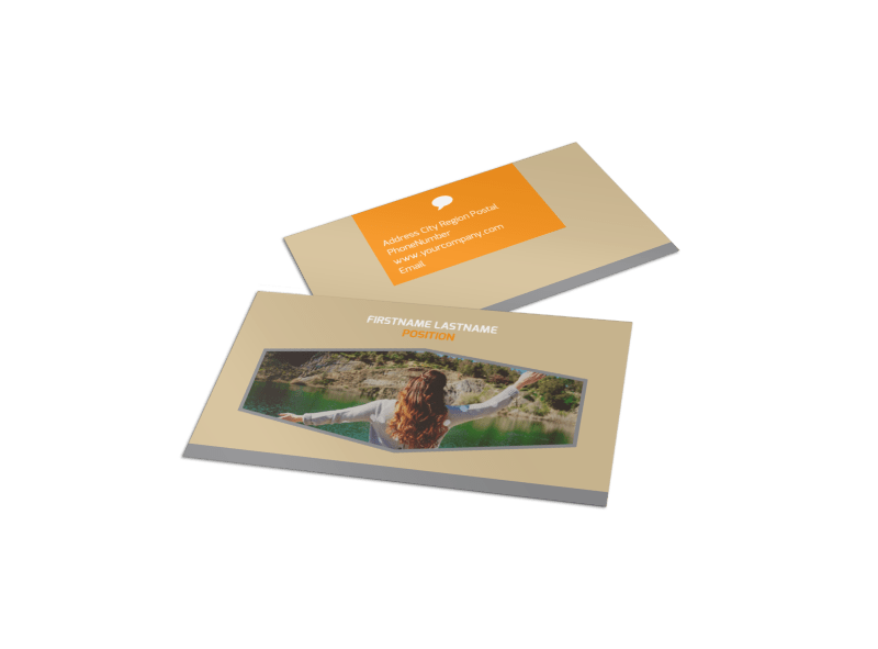 Addiction & Rehab Center Business Card Template Preview 1