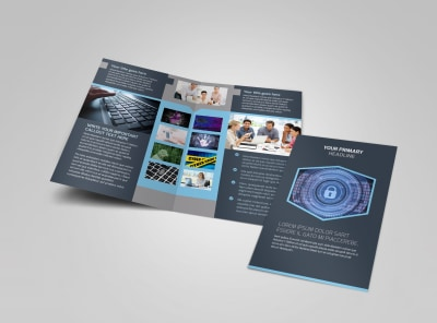 IS Security Bi-Fold Brochure Template